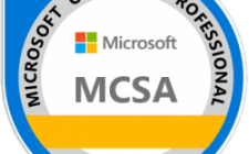 MCSA Example Badge
